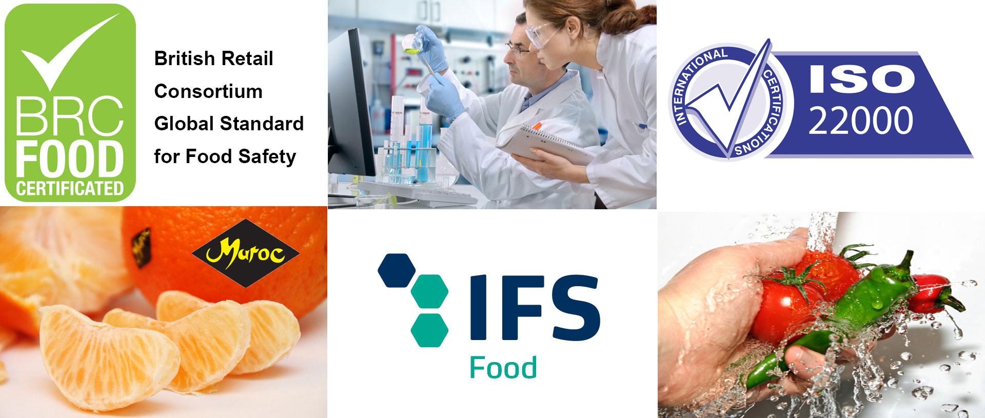 slider 2 BRC FOOD - IFS FOOD - ISO 22000 certificat